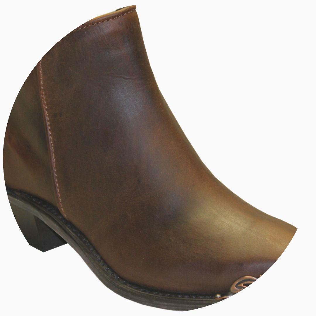 bc165a578f267 Abilene Women s Sage Brown Demi Zipper Boots w  Metal Rands Snip Toe Western  Heel Item A4566  Boots  BootsFromSmokinJim  WesternBootsViaDanielsRun ...