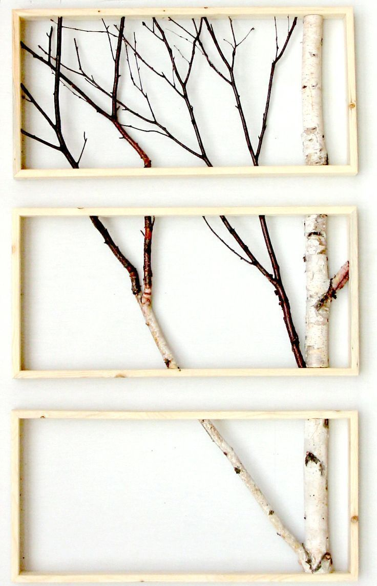 Framed birch tree branches | Houtsnijwerken | Pinterest | Birch ...