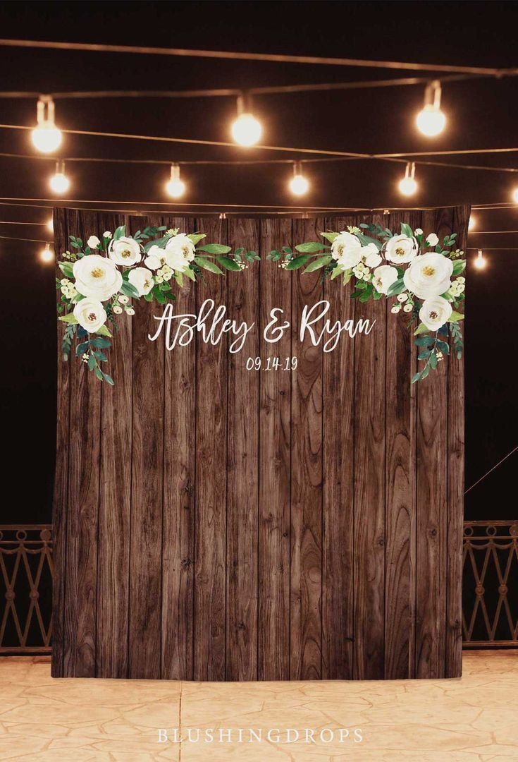 Wedding Photo Backdrop, Rustic Wedding Decorations On A Budget, Rustic Backdrop, Photo Booth Backdro