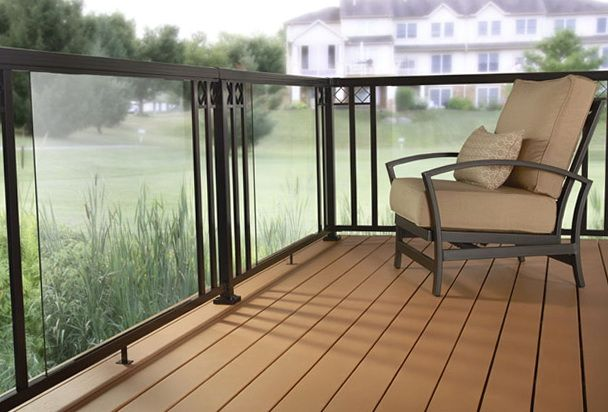 Deck Designs Home Depot Photo Of nifty Glass Deck Railing Home ...