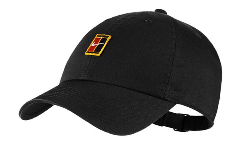 Nike Heritage 86 Tennis Cap Court Logo Hat Black Racquet Racket Nwt 852184 010 Nike