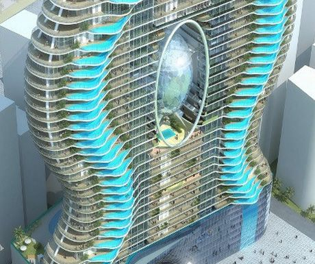 Luxury Apartments, Glass Swimming Pool India