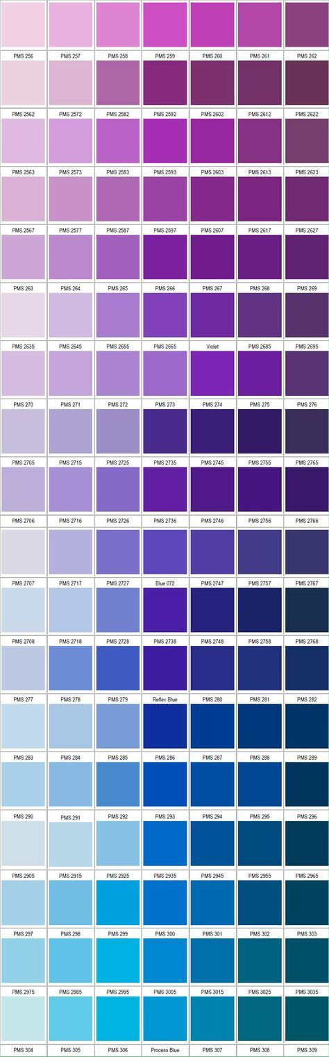 Bien connu Color Chart ( Pantone / PMS ) - not pms, i take it! This is very  DQ21
