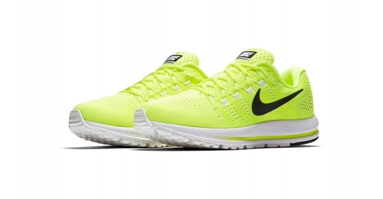 be728460a0552 Men s Nike Air Zoom Vomero 12 Running Shoe - Color  Volt Black Barely  Volt White (Regular Width) - Size  6