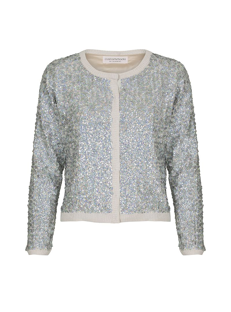 Jardine By Numbers Sequin-embellished Cardigan | Custommade.dk ...