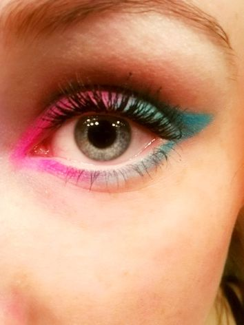 #makeup #pink #bleu #pretty