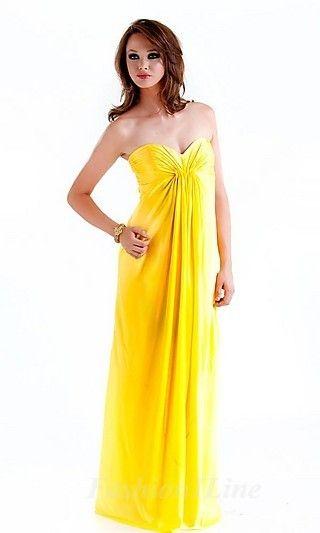yellow yellow dress long