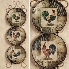 Decorative Rooster Plates Set of 3 Roosters Plate Kitchen Dining Room Wall Decor & Decorative Rooster Plates Set of 3 Roosters Plate Kitchen Dining ...