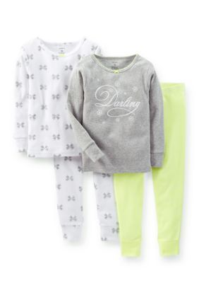 Carters  2-Pack Darling and Bow Print Pajama Set Toddler Girls