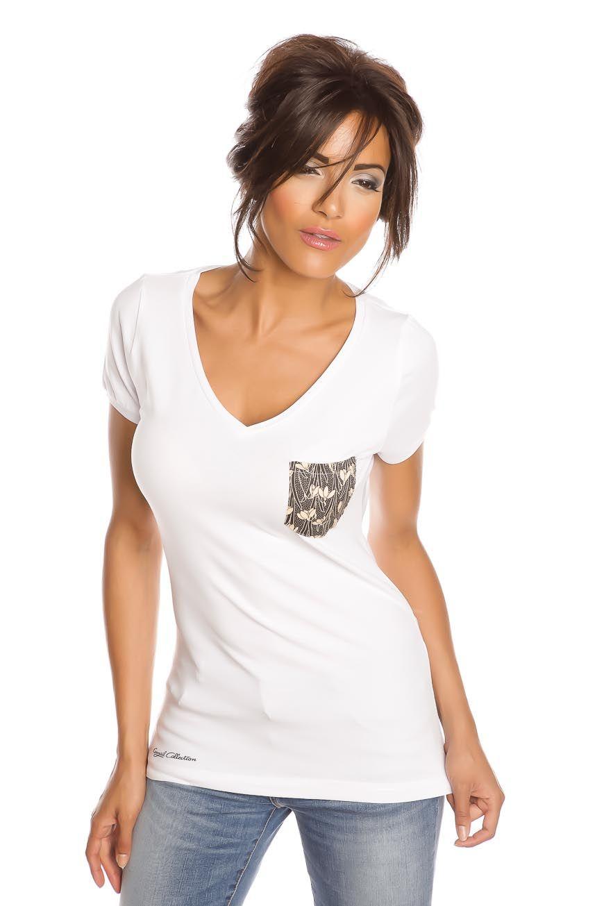 T-shirt femme T- REMEMBER NOIR et BLANC Blanc
