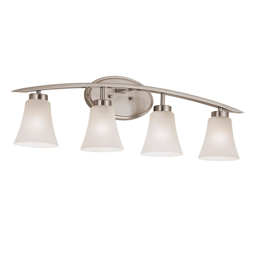 Shop portfolio 4 light lyndsay brushed nickel bathroom vanity light