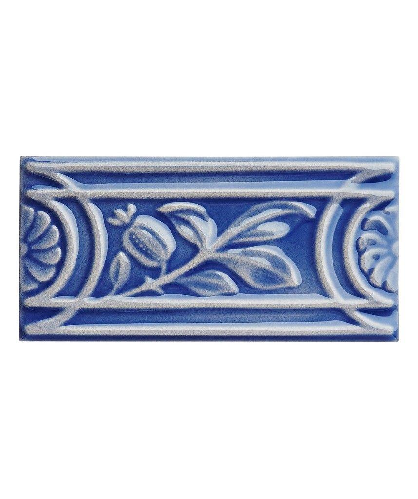 MH China Blue Rolling Leaf Tile