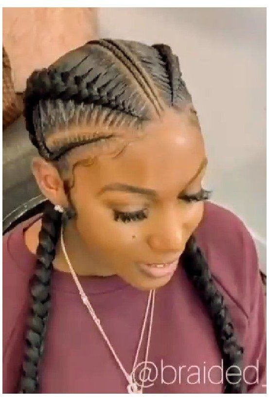 french braid hairstyles for black women two