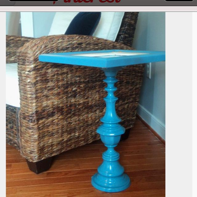 Lamp Base And Tv Tray Make A Great Side Table Diy End