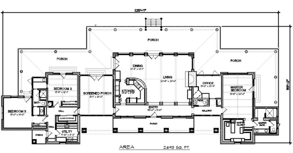 Ranch Style House Plan 3 Beds 2 5 Baths 2693 Sq Ft Plan 140 149 Ranch House Floor Plans Floor Plans Ranch Ranch Style House Plans
