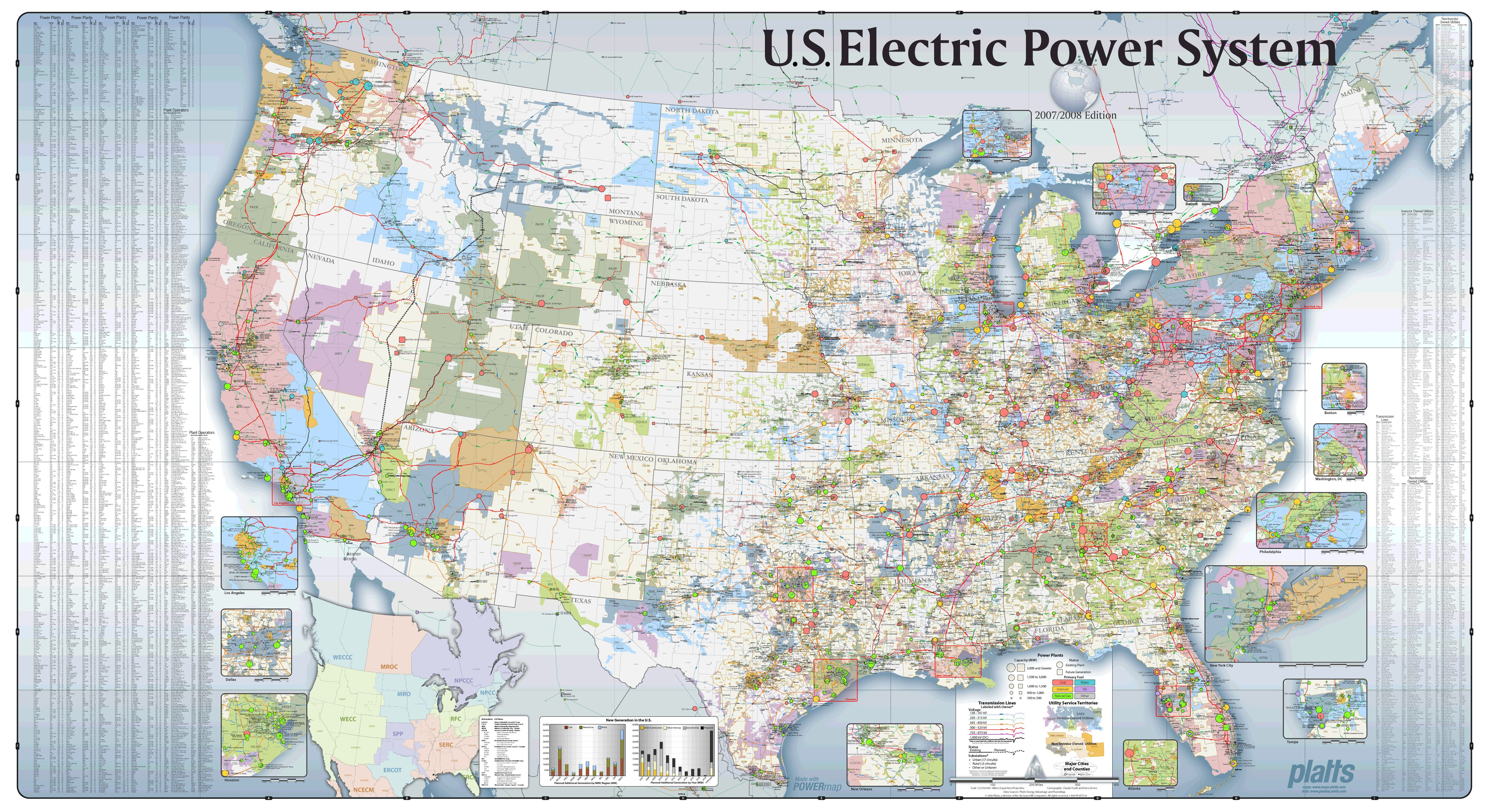 US Electric Power Grid as of 2008. Zoom for excellent detail ...