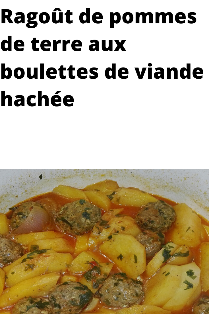 Photo of Potato stew with minced meatballs