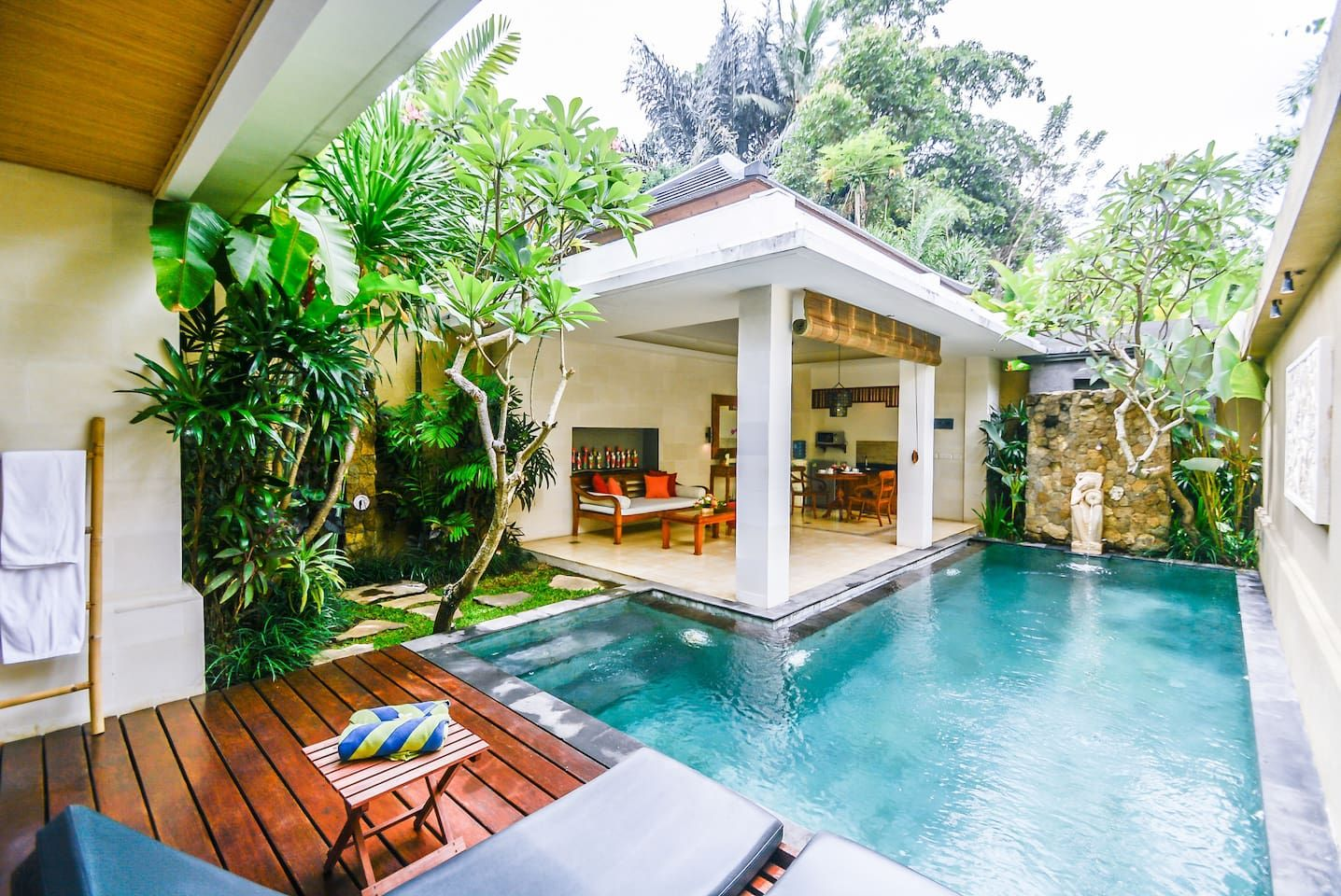 Holiday Villa With Private Pool In Ubud Villas For Rent In Ubud Villa With Private Pool Beach House Design Patio Plans