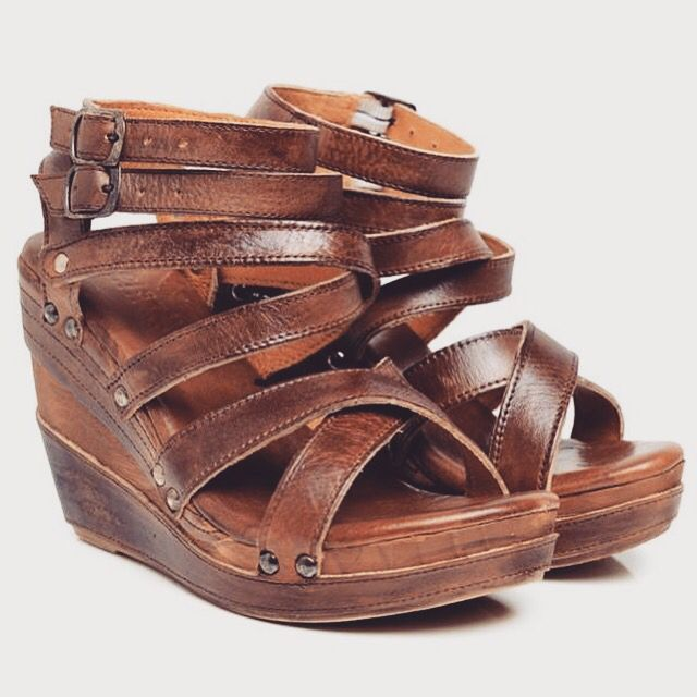 BedStu All Leather Wedges available in Hickory. $145