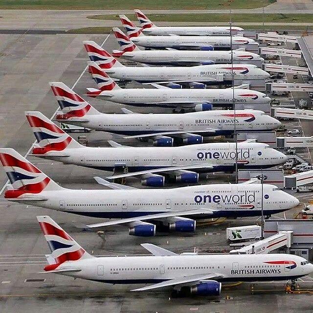 Wide body fleet of British Airways Vintage aircraft