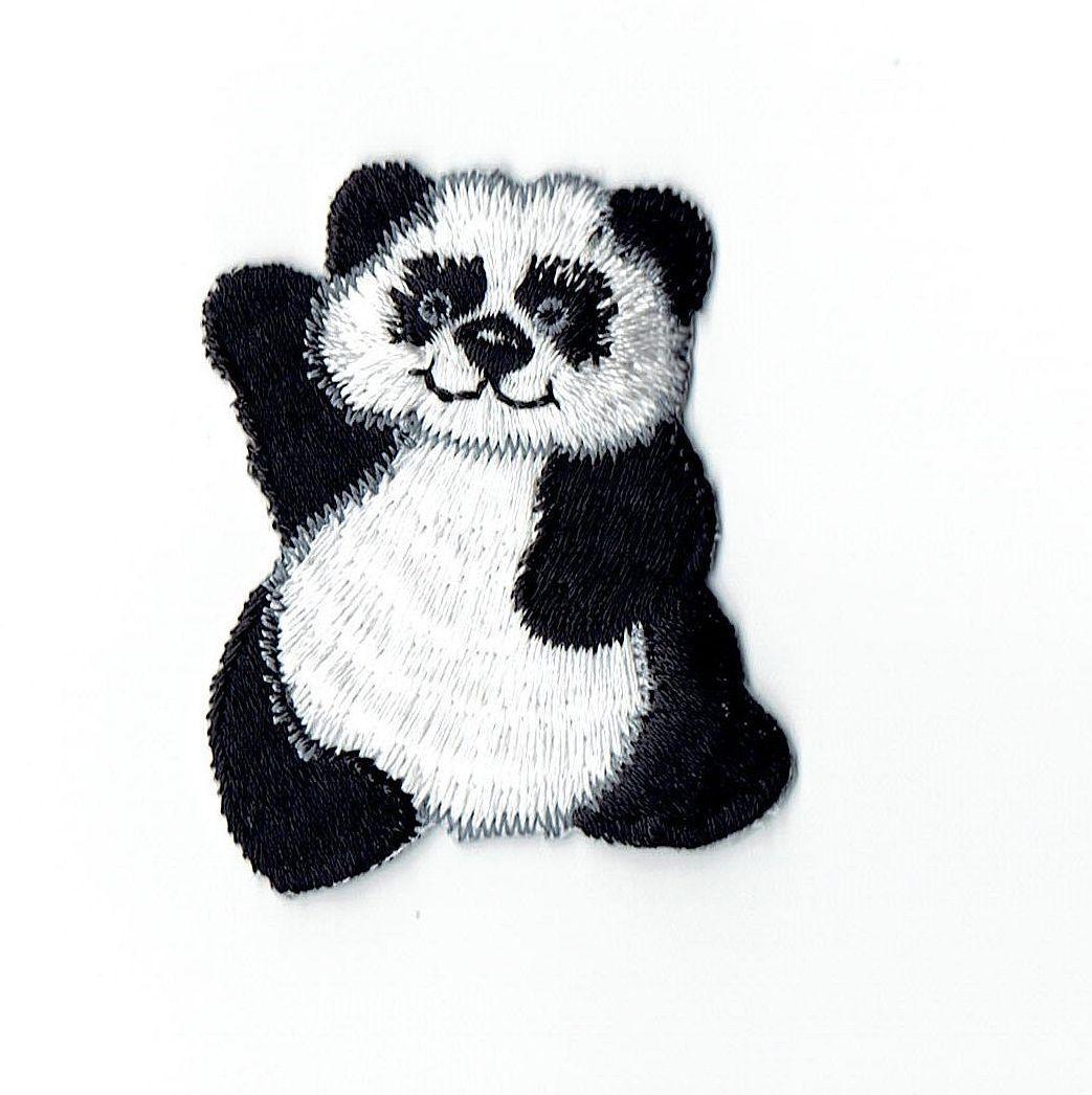 PANDA BEAR /& BABY  ANIMALS  ZOO  Iron On Patch
