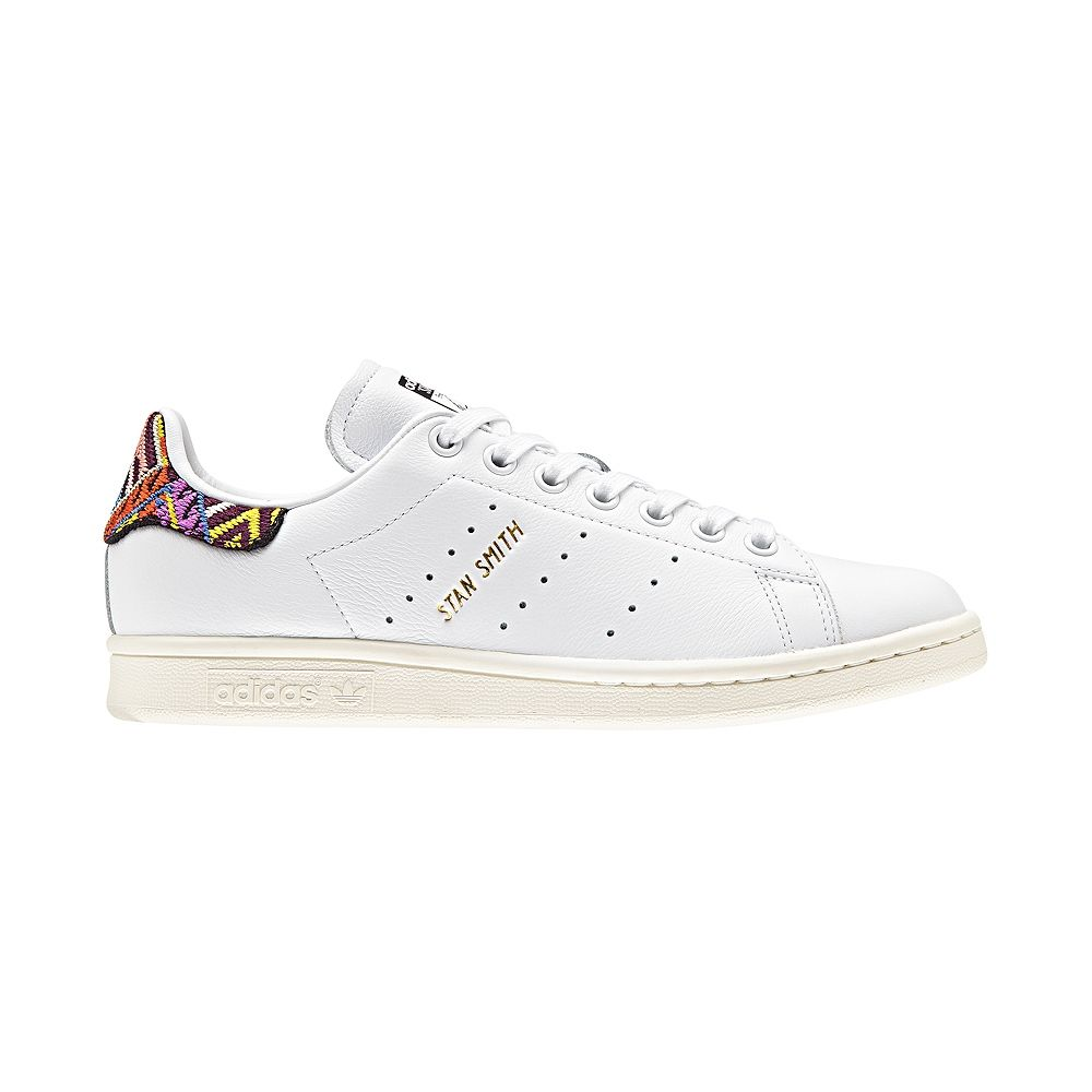 Womens adidas Stan Smith Athletic Shoe - White Multi - 436523 ... 00e06537f8