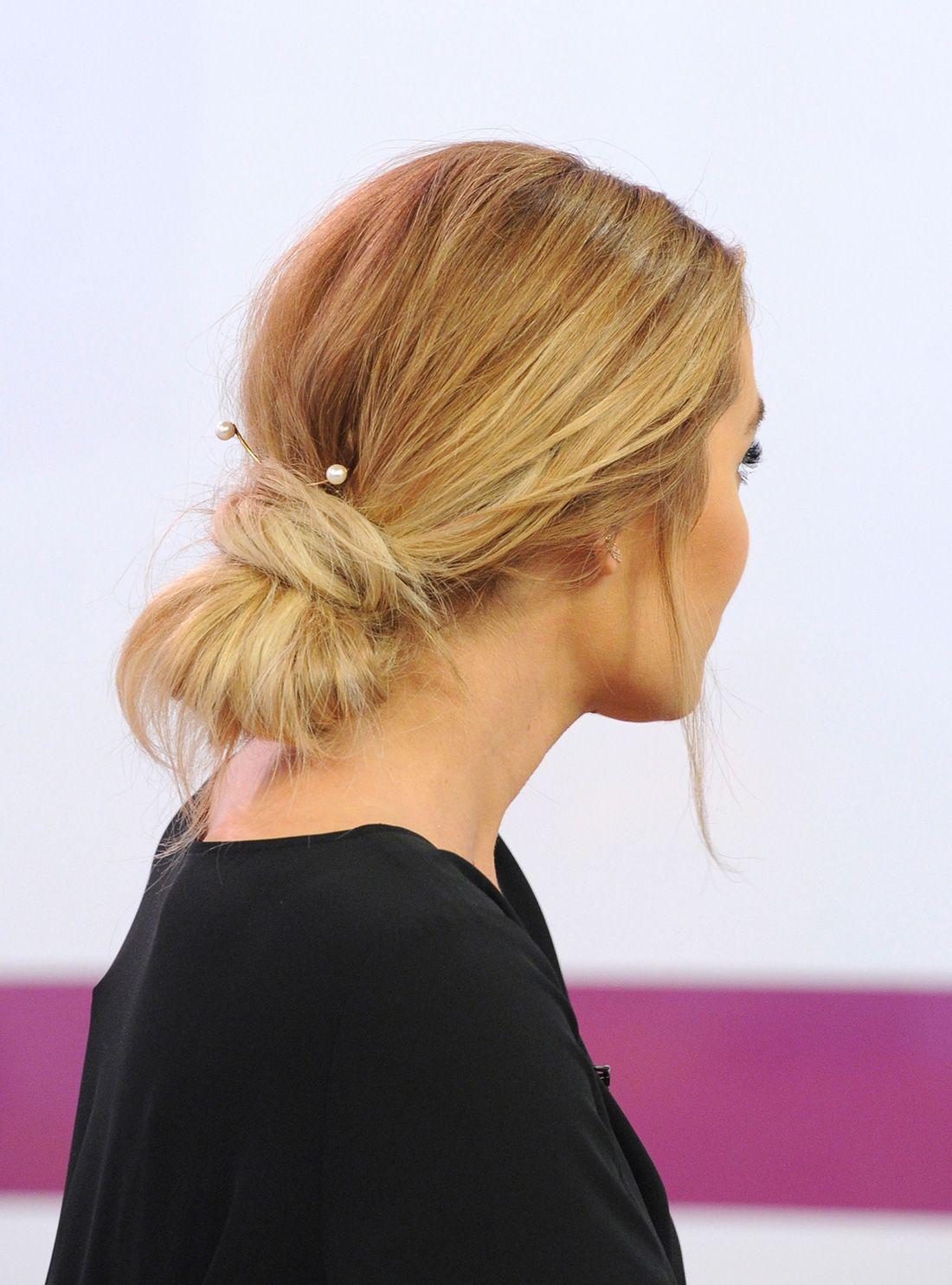 lauren conrad is a hair goddess. love this messy bun hack