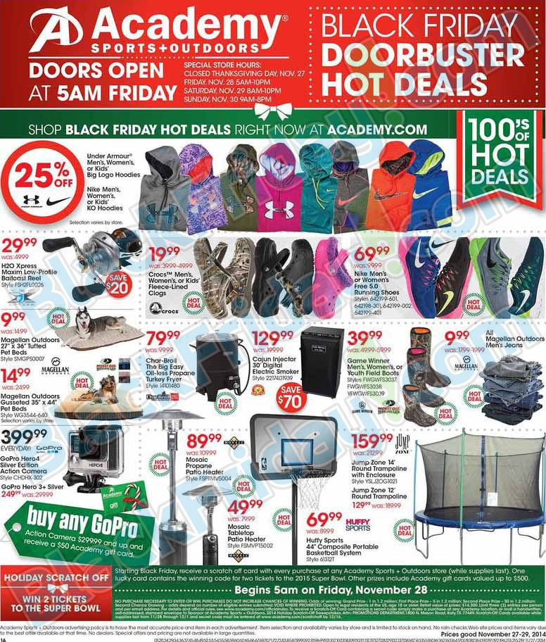 Academy Sports and Outdoors Black Friday Ad 2014 ★ Shop