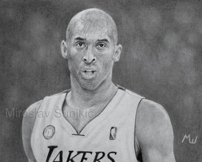 20+ Fantastic Ideas Sketch Pencil Art Kobe Bryant Drawing