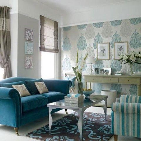 Teal Blue Living Room Interior Design Http://nazmiyalantiquerugs.com/blog/