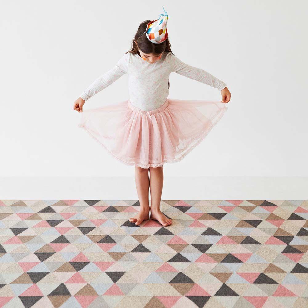 designer armadillo co woollen kids pink rug girls circus