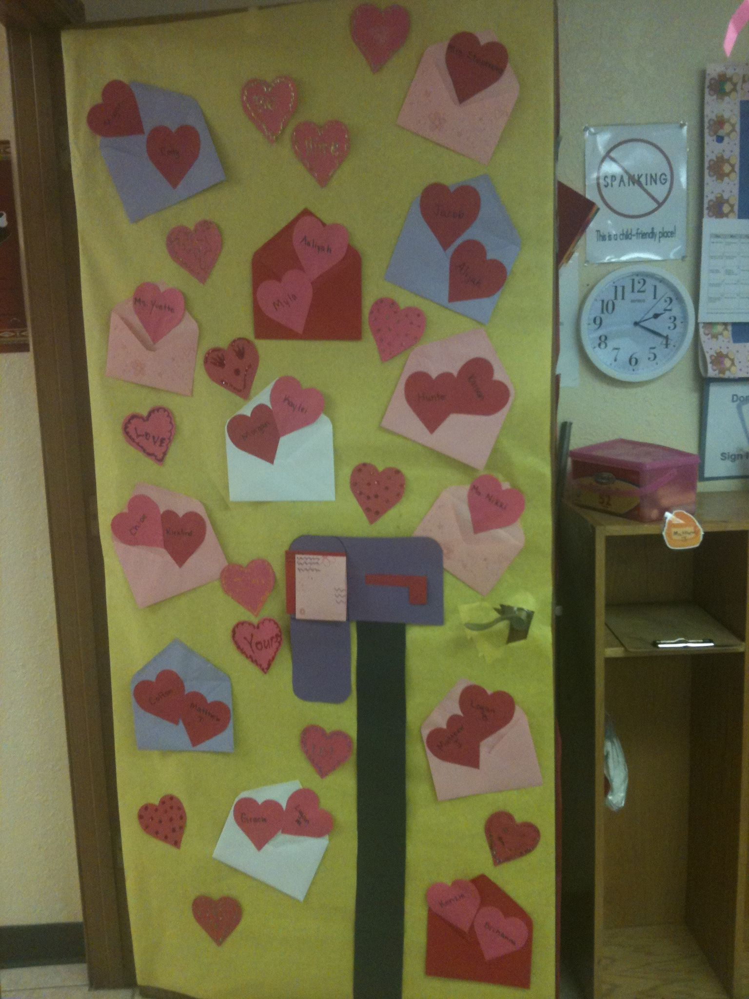 Valentine Door Decoration I did this for my son\'s classroom. | Ideas ...