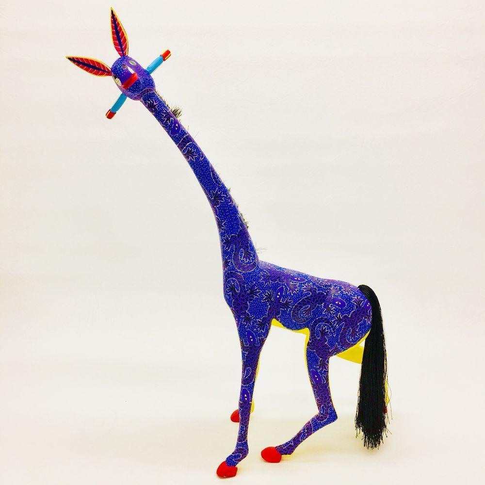 Giraffe oaxacan alebrije wood carving mexican folk art animal