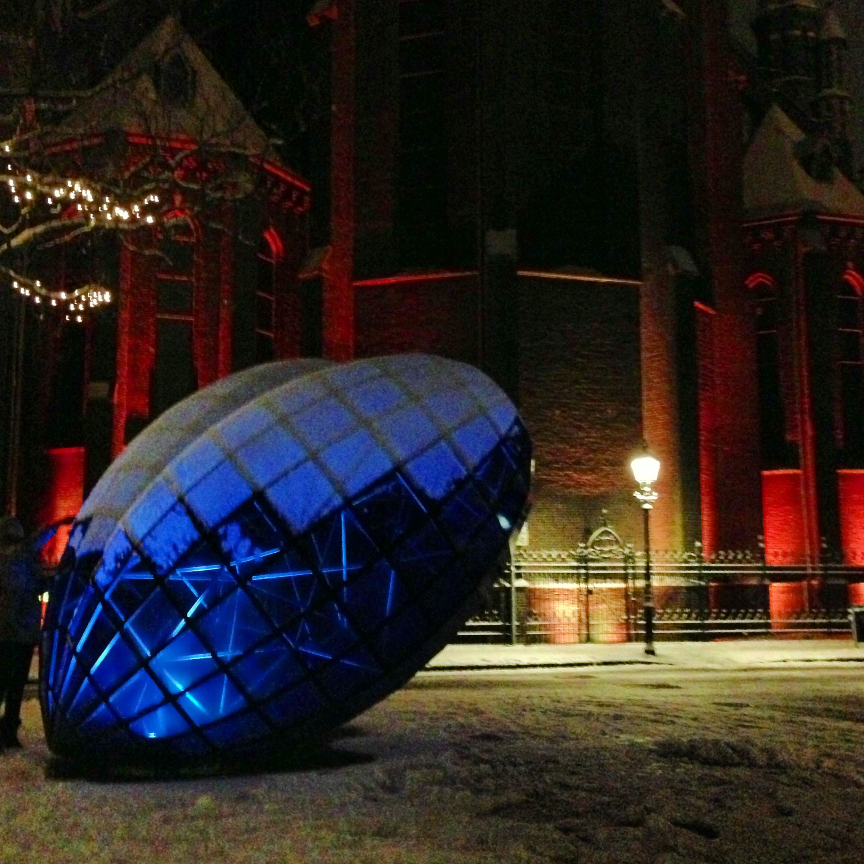 Blauwe Hart ingesneeuwd