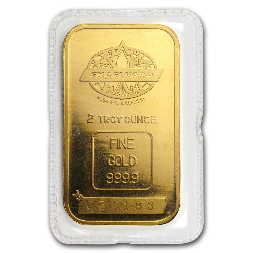 2 Oz Gold Bar Engelhard Tall Maple Design Smooth Border Sku 171590 Gold Goldbar Gold Bar Gold Bars For Sale Gold
