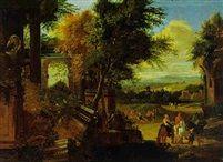 Landschaft mit Ruinen by Sébastien Bonnecroy