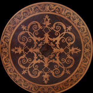 Wood floor medallion inlays hardwood flooring flooring for Wood floor medallion designs