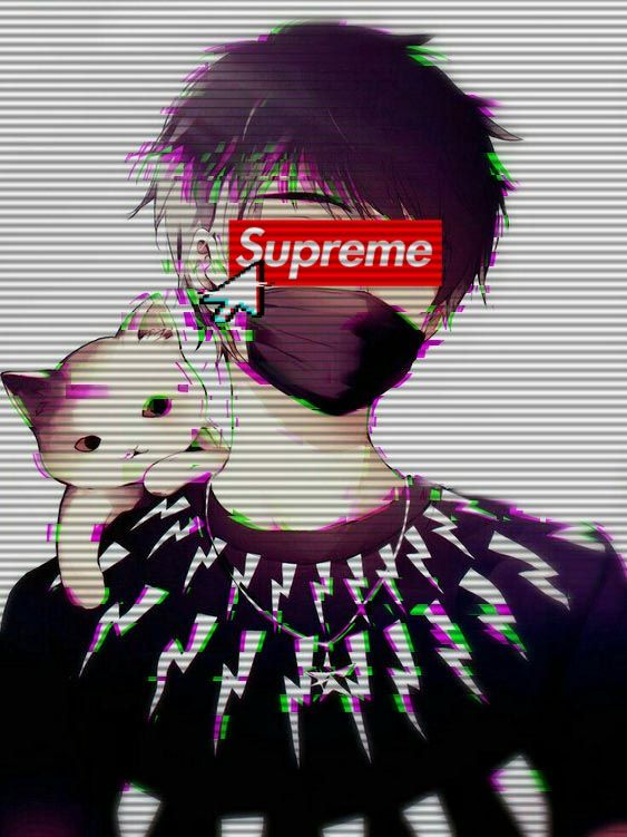 Supreme Like Anime Glitch Love 3d Aesthetic Anime Glitch Wallpaper Anime Boy