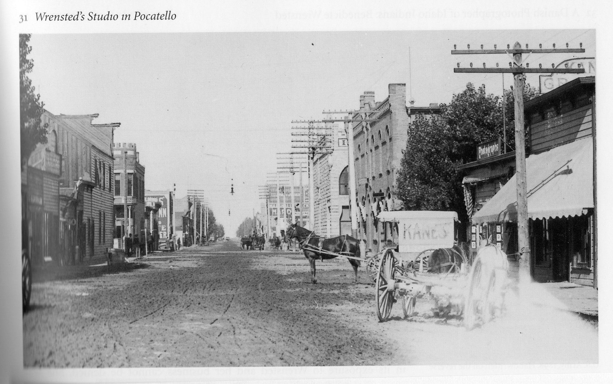 Early Pocatello. Main Street, approaching its intersection