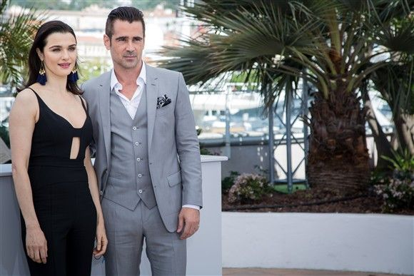 """Rachel Weisz and Colin Farrell pose for photographers during the photo call of the film """"The Lobster"""" at the 68th international film festival in Cannes, France, on May 15, 2015."""