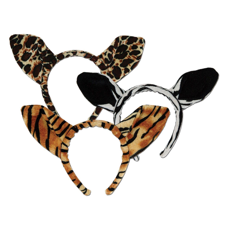 Leopard Giraffe Dog+ Animal 3 piece Plush  costume Ears Tail Bow tie New  Bunny