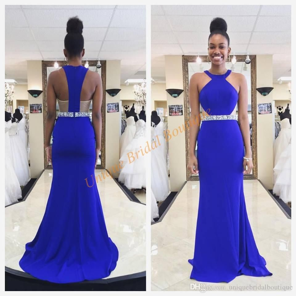 African Prom Dresses 2017 Famous Designer with Halter Neck and ...
