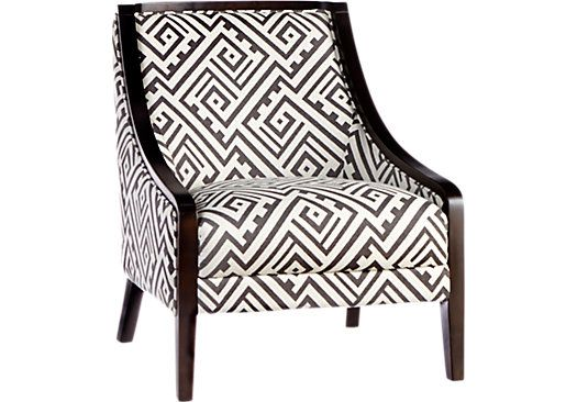 Reina Point Black Accent Chair   Accent Chairs (Black)
