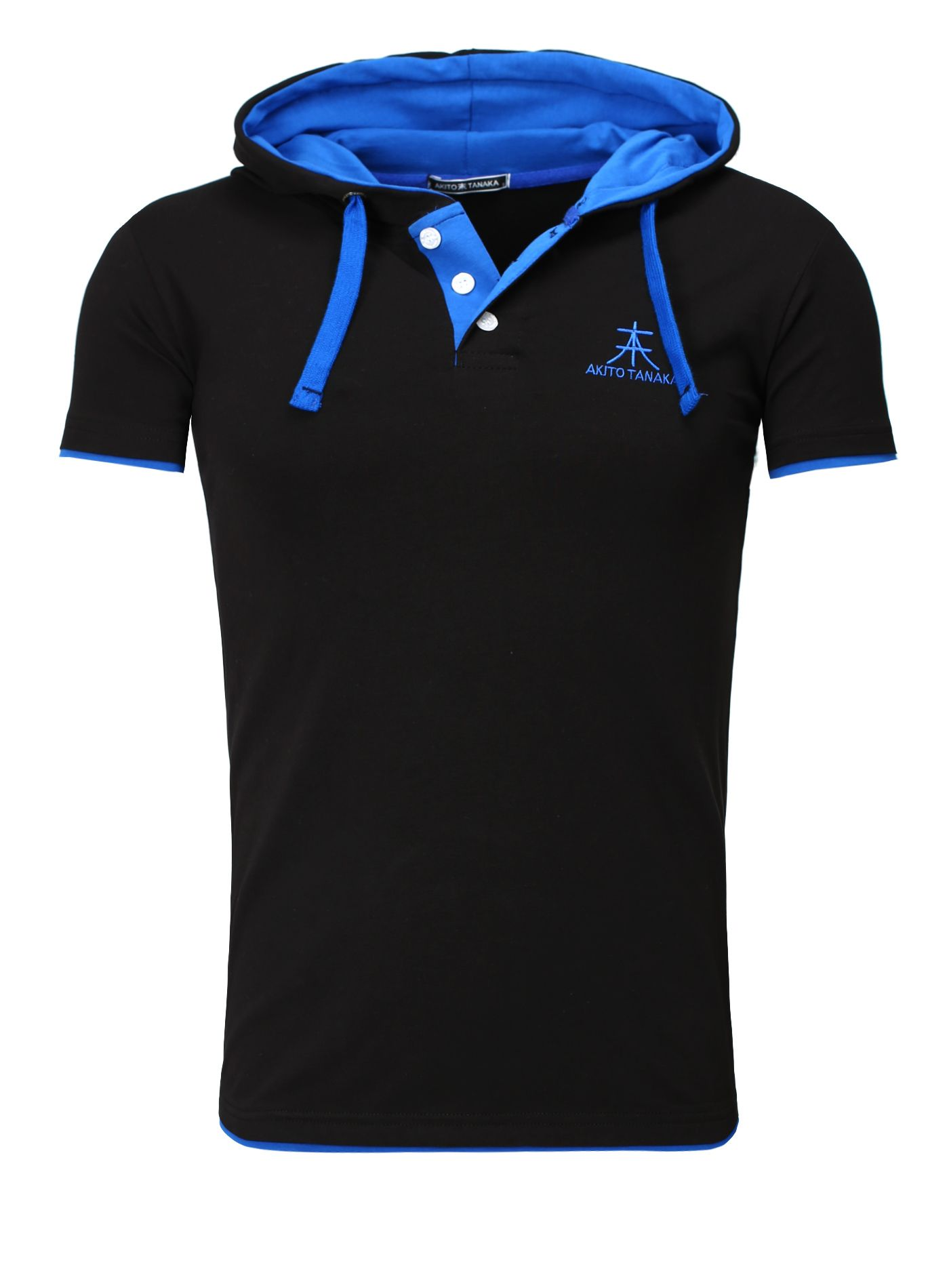 Akito Tanaka T Shirt Herren Strech schwarz | T Shirts