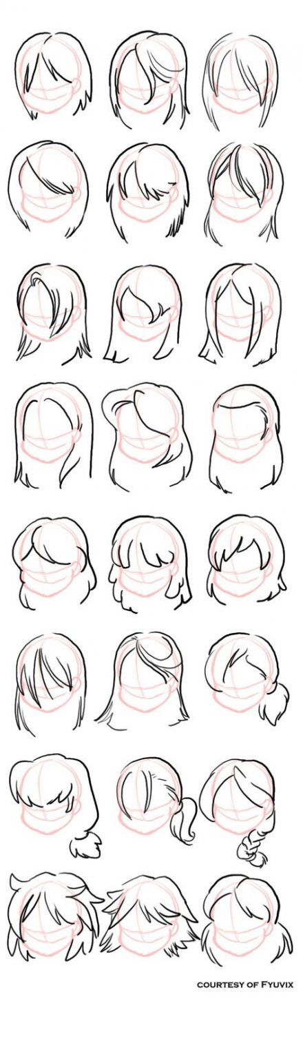 Photo of Hair drawing reference bun 19+ ideas
