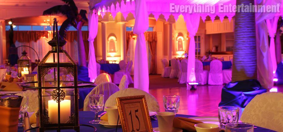 Lighting and décor for corporate Arabian Nights theme party ...