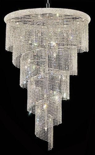 Joshua Marshal 700955 Spiral Design 29 Light 48 Chandelier From Spiral Collection Crystal Chandelier Beaded Light Fixture Chandelier Lighting