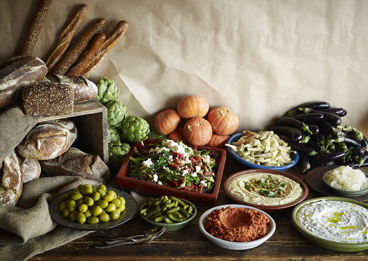 Mezze Station By ARIA Catering Food Station