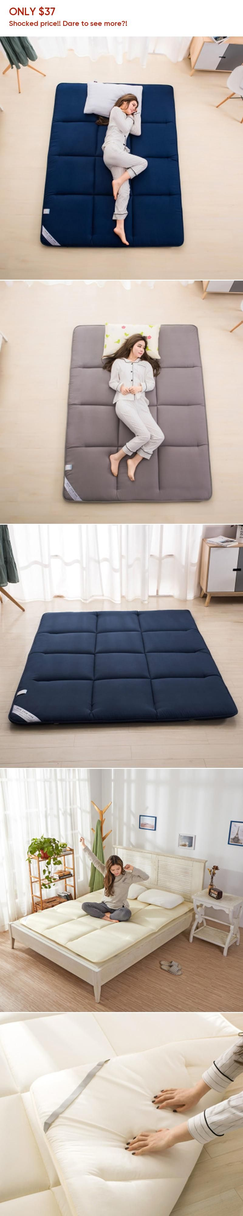 Sleeping Rug Tatami Mattress Pad Folded Floor Carpet Lazy