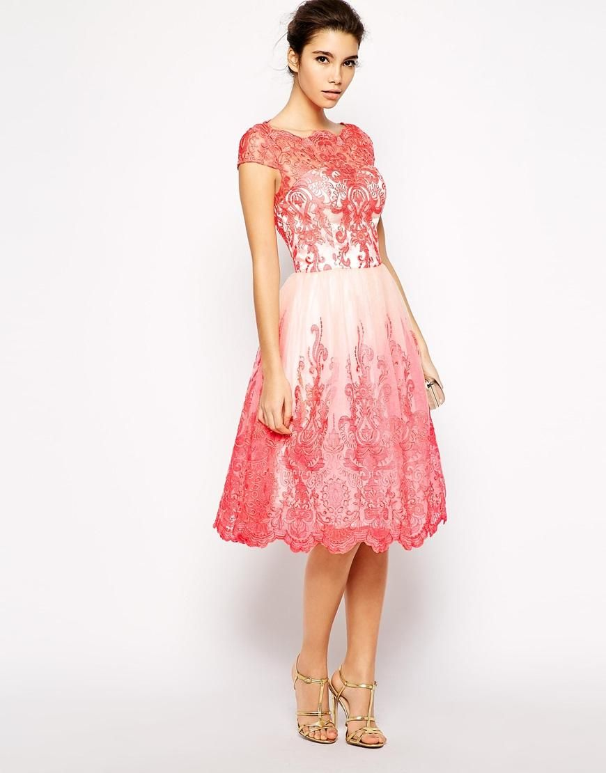 Chi Chi London | Chi Chi London Premium Embroidered Lace Prom Dress ...